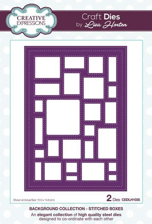 Creative Expressions Collection - Background Collection Stitched Boxes Craft Die