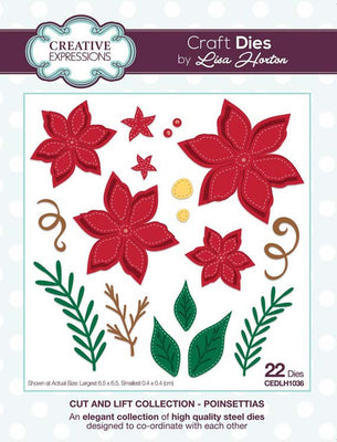 Creative Expressions Collection - Cut and Lift Collection Poinsettias Craft Die