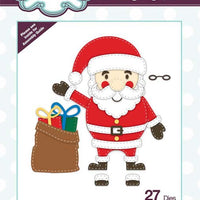 Creative Expressions Collection - Stitched Collection - Jolly Santa Craft Die