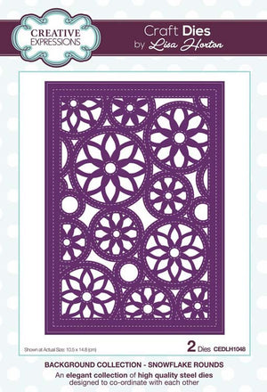 BCreative Expressions Collection - ackground Collection Snowflake Rounds Craft Die
