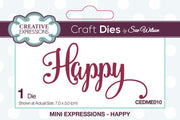 Mini Sue Wilson Dies - Expressions Collection - Happy Die