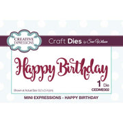 Mini Sue Wilson Dies - Expressions Collection - Happy Birthday