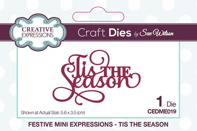 Mini Sue Wilson Dies - Expressions Collection - Tis The Season