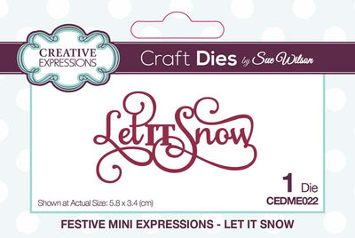 Mini Sue Wilson Dies - Expressions Collection - Let It Snow
