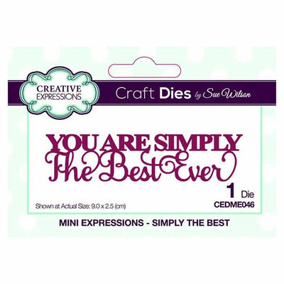 Dies by Sue Wilson Mini Expressions Collection Simply The Best