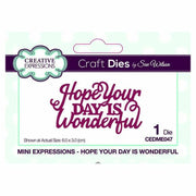 Dies by Sue Wilson Mini Expressions Collection Hope Your Day is Wonderful