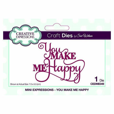 Dies by Sue Wilson Mini Expressions Collection You Make Me Happy