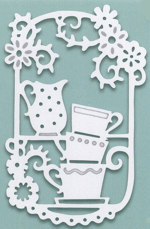 Creative Expressions - Paper Cuts Collection - Towering Teacups