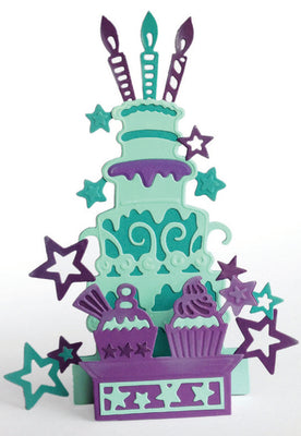 Creative Expressions Collection - Die Paper Cuts 3D - Party Cakes