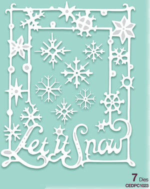 Creative Expressions - Paper Cuts Collection - Let It Snow Frame