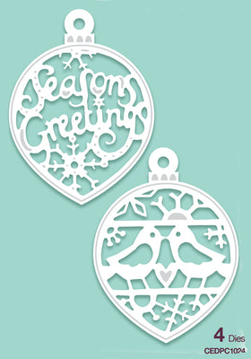 Creative Expressions - Paper Cuts Collection - Seasons Greetings Bauble Duo