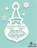 Creative Expressions - Paper Cuts Collection - Merry Christmas Santa Bauble