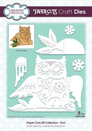 Creative Expressions - Paper Cuts 3D Collection - Owl Die