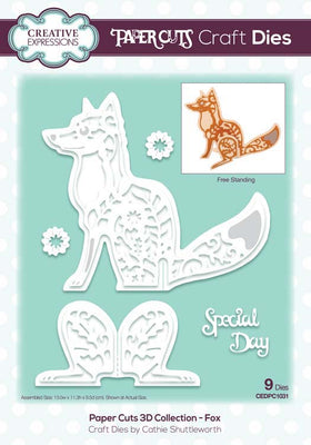 Creative Expressions - Paper Cuts 3D Collection - Fox Die