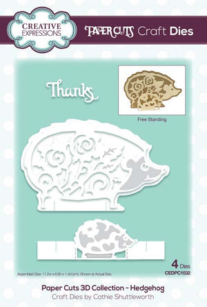 Creative Expressions - Paper Cuts 3D Collection - Hedgehog Die