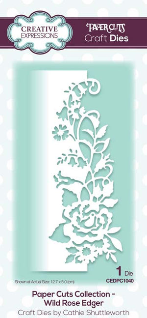 Creative Expressions - Paper Cuts Collection - Wild Rose Edger Craft Die