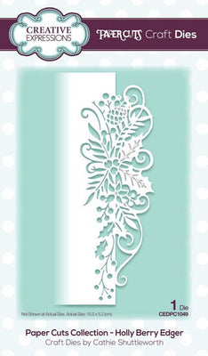 Creative Expressions - Paper Cuts Collection - Holly Berry Edger Craft Die