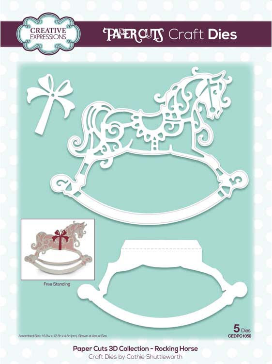 Creative Expressions - Paper Cuts 3D Collection - Rocking Horse