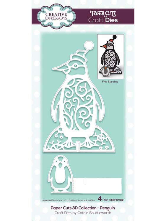 Creative Expressions - Paper Cuts 3D Collection - Penguin