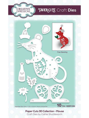 Creative Expressions - Paper Cuts 3D Collection - Mouse