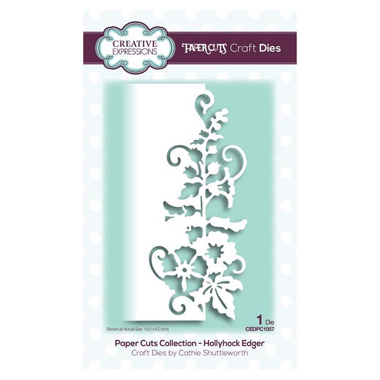 Creative Expressions - Paper Cuts Collection - Hollyhock Edger Craft Die