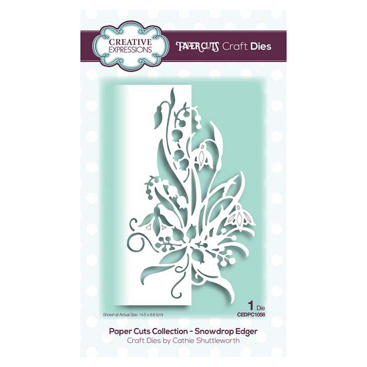 Creative Expressions - Paper Cuts Collection - Snowdrop Edger Craft Die