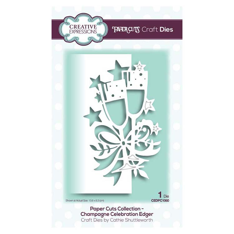 Creative Expressions - Paper Cuts Collection - Champagne Edger