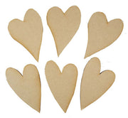 Creative Expressions MDF Mixed Heart Pack of 6