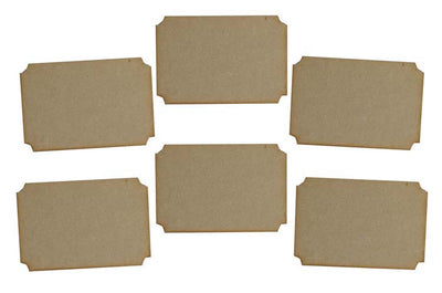 Creative Expressions MDF Tickets Pack of 6