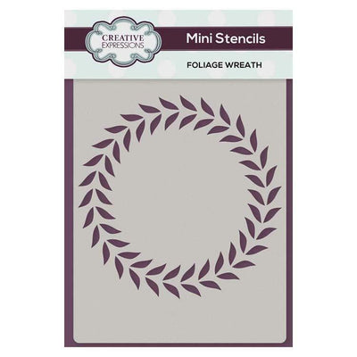 Creative Expressions Mini Stencil Foliage Wreath