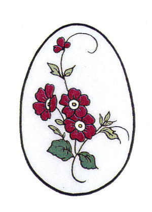 Frog's Whiskers Stamps - Floral Easter Egg