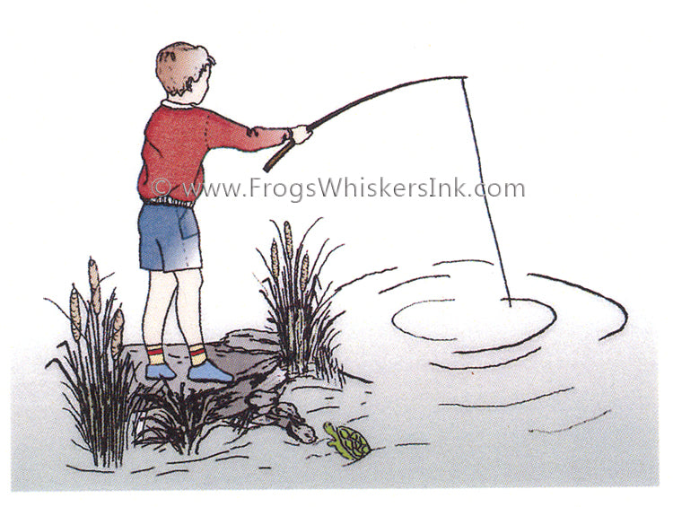 Frog's Whiskers Stamps - Boy Fishing