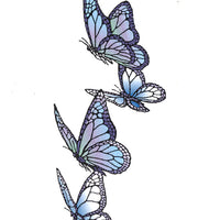 Frog's Whiskers Stamps - Four Butterflies