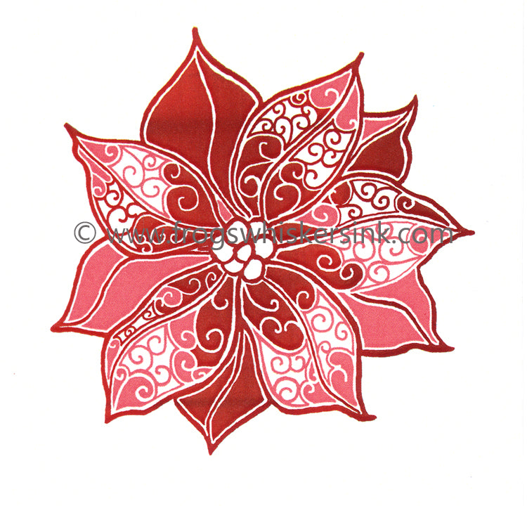 Frog's Whiskers Stamps - Poinsetttia Swirls