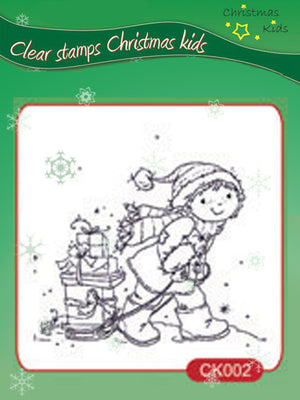 Clear Stamps - Christmas Kids - Presents