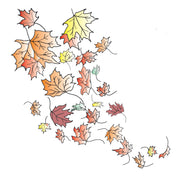 Frog's Whiskers Stamps - Swirling Leaves