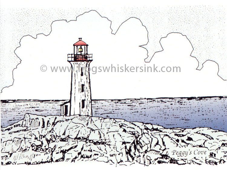 Frog's Whiskers Stamps - Peggy's Cove Cling Mount Stamp