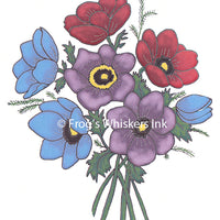 Frog's Whiskers Stamps - Anemones