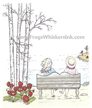 Frog's Whiskers Stamps - By the Lake