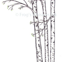 Frog's Whiskers Stamps - Birch Trees