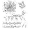 Clarity Stamps-Jayne's Agapanthus Clear Stamp Set