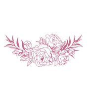 Couture Creations Peaceful Peonies Mini Stamp Bouquet Border