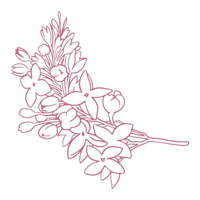 Couture Creations Peaceful Peonies Mini Stamp Lilacs