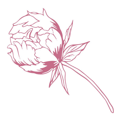 Couture Creations Peaceful Peonies Mini Stamp Baby Peony