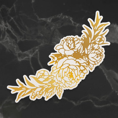 Couture Creations Peaceful Peonies Cut Foil And Emboss Die Peony Bouquet