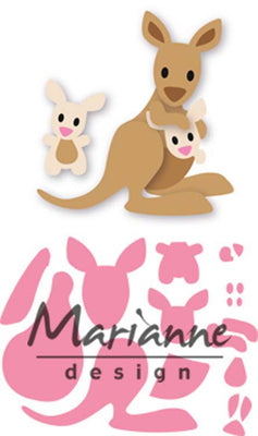 Marianne Design Collectables Eline's Kangaroo & Baby