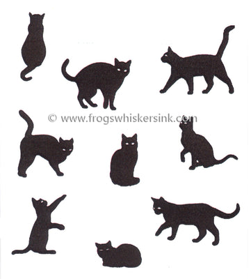 Frog's Whiskers Stamps - Nine Lives of Midnight