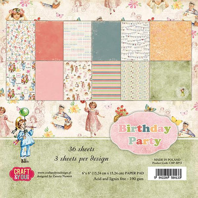 Craft & You Design Birthday Party 6x6 Paper Pad