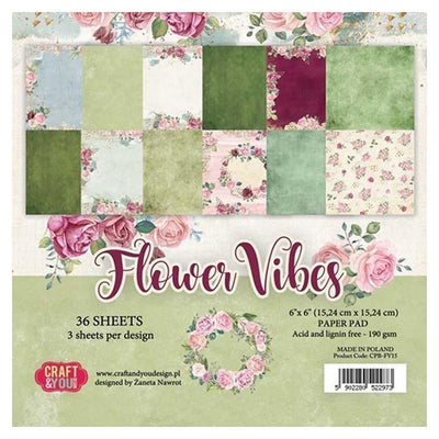 Craft & You Design Flower Vibes 6x6 Paper Pad