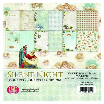 Craft & You Design Silent Night 6x6 Paper Pad